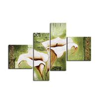 アートパネル 『白い花弁』 30x80cm他、計4枚組