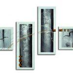 アートパネル 『文様Ⅲ』 30x80cm他、4枚組