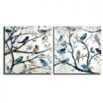 アートパネル 『小鳥Ⅱ』 50x50cm x 2枚組