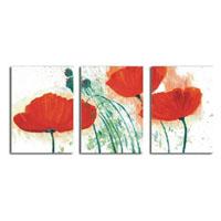 アートパネル 『赤い花びらXI』 40x60cm x 3枚組