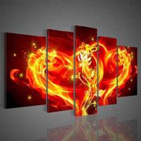 アートパネル 『ハートの炎』 30X50cm x 2枚他、計5枚組