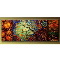 アートパネル 『踊る木Ⅳ』 20x40cm他、計3枚組