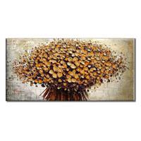 アートパネル 『フラワー・ブーケ(黄)』 60x120cm x 1枚