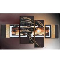 アートパネル 『松Ⅳ』 30x40cm、1枚他、計4枚組