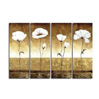 アートパネル 『白い花Ⅱ』 30x90cm x 4枚組