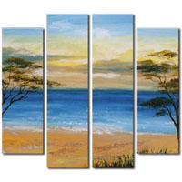 アートパネル 『浜辺と海』 25x90cm他、4枚組