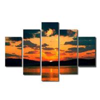 アートパネル 『夕焼け』 30x90cm他、5枚組