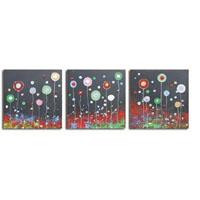 アートパネル 『胞子Ⅲ』 50x50cm x 3枚組