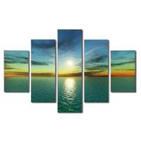 アートパネル 『海と太陽のある情景』 30x90cm他、計5枚組