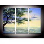 アートパネル 『樹木と水面』 25x50cm x 3枚組