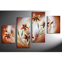 アートパネル 『花々』 30x50cm x 2枚 30x70cm x 2枚の計4枚組