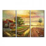 アートパネル 『田園』 30x60cm x 3枚組