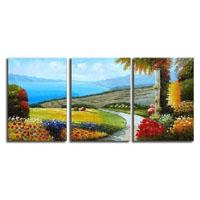 アートパネル 『海の見える花園』 40x60cm x 3枚組