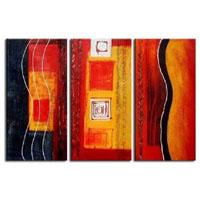 アートパネル 『赤・黄・黒』 30x60cm x 3枚組