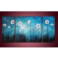 アートパネル 『白い花のある青い世界』 計3枚組