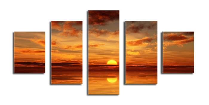 アートパネル 『夕焼けⅢ』 30x80cm他、計5枚組