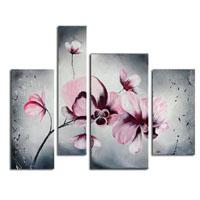 アートパネル 『ピンクの花びらⅣ』 30x60cm他、計4枚組