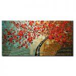 アートパネル 『赤い花びらⅤ』 60x120cm x 1枚