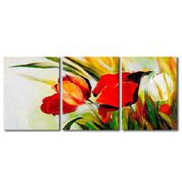 アートパネル 『赤い花びらⅦ』 40x60cm x 3枚組