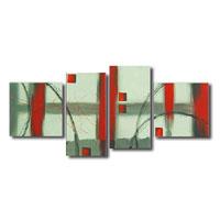 アートパネル 『グリーン・レッド』 30x60cm x 2枚他、計4枚組
