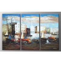 アートパネル 『水の街』 30x60cm x 3枚組