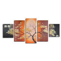 アートパネル 『樹木Ⅲ』 25x60cm他、計5枚組