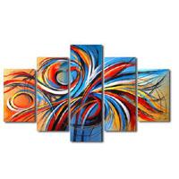 アートパネル 『流線Ⅳ』 25x75cm他、5枚組