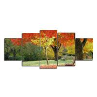 アートパネル 『森の紅葉』 25x60cm他、計5枚組