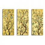 アートパネル 『枝と小鳥』 30x70cm x 3枚組