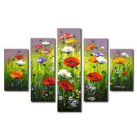 アートパネル 『草原の花々』 20x60cm他、5枚組