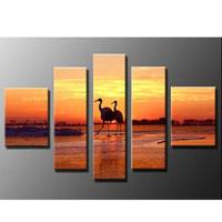 アートパネル 『鶴のいる夕べ』 30x50cm x 2枚他、計5枚組