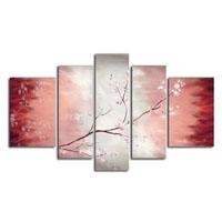 アートパネル 『桜の花Ⅲ』 25x90cm他、計5枚組