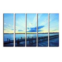 アートパネル 『桟橋と青い海』 25x80cm x 5枚組