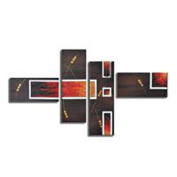 アートパネル 『赤と黒』 30x90cm、2枚他、4枚組