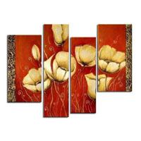 アートパネル 『花びらと模様』 25x80cm他、計4枚組