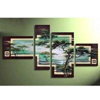 アートパネル 『松のある森』 35x50cm x 1枚他、計4枚組