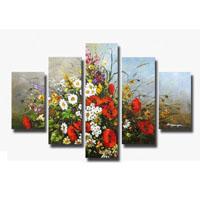 アートパネル 『花々Ⅲ』 20x60cm他、5枚組