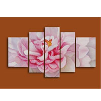 アートパネル 『ピンクの花びら』 30x100cm他、5枚組