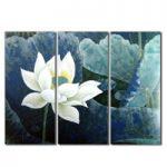 アートパネル 『白い花Ⅲ』 30x70cm x 3枚組