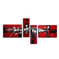 アートパネル 『赤い抽象』 40x60cm他、計4枚組