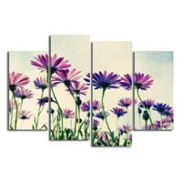 アートパネル 『紫の花々』 30x80cm x 2枚他、計4枚組