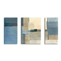 アートパネル 『青と茶』 50x60cm他、3枚組