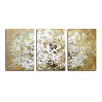 アートパネル 『ホワイト・フラワー』 40x60cm x 3枚組 白い花