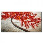 アートパネル 『赤い花Ⅳ』 75x150cm x 1枚