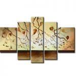 アートパネル 『秋の葉』 30x50cm x 2枚他、計5枚組