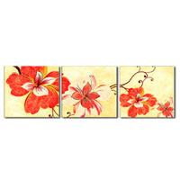 アートパネル 『赤い花びらⅧ』 50x50cm x 3枚組