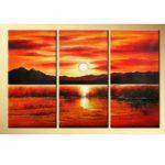 アートパネル 『日暮れ』 40x80cm x 3枚組