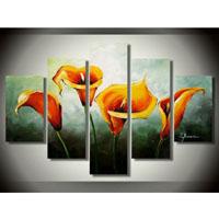 アートパネル 『橙色のユリの花』 25x40cm x 2枚他、計5枚組