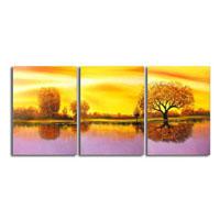 アートパネル 『湖畔の夕暮れ』 40x60cm x 3枚組