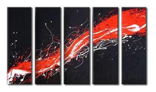 アートパネル 『流動Ⅳ』 20x60cm x 5枚組